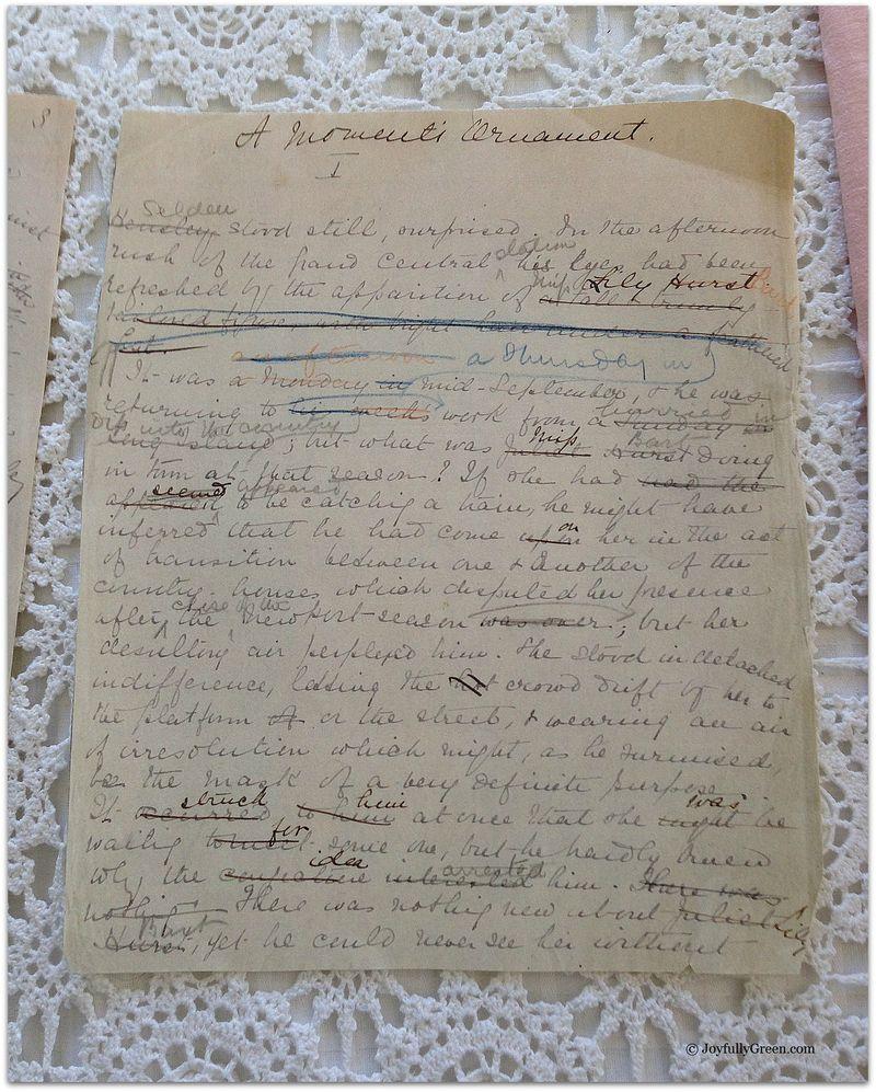 House of Mirth manuscript  3a