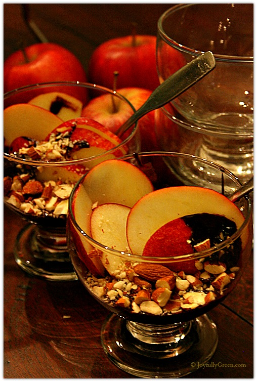 Apples and Choc Almond Sauce by JoyfullyGreen