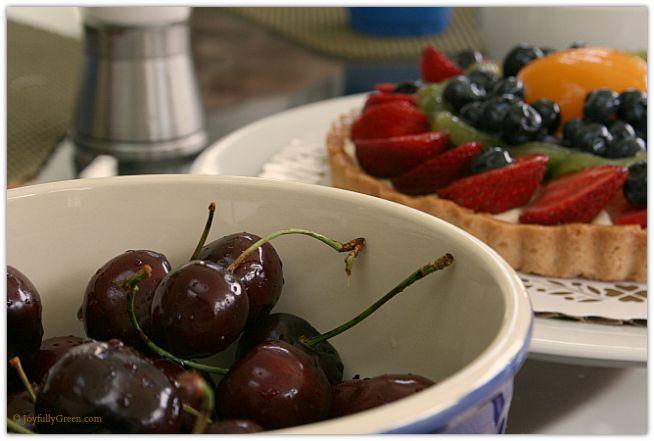 Cherries and Fruit Tart © Joyfully Green LLC