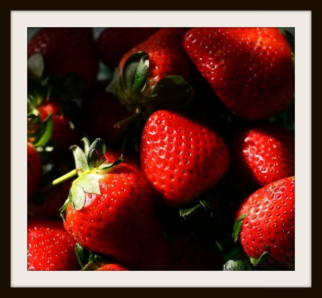 Kate Hubert-Art of Photo-Okeefe Strawberries-FRAMED