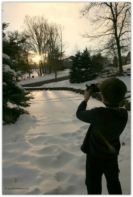 Son Photographing Sun © Joyfully Green LLC
