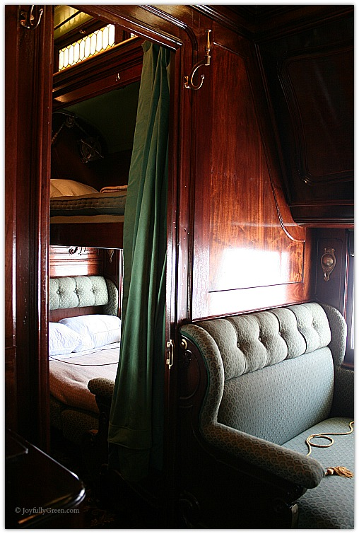 Hildene Pullman Car Interior © Joyfully Green LLC