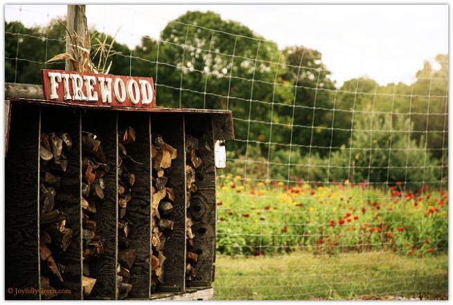 Firewood and Flowers © Joyfully Green LLC