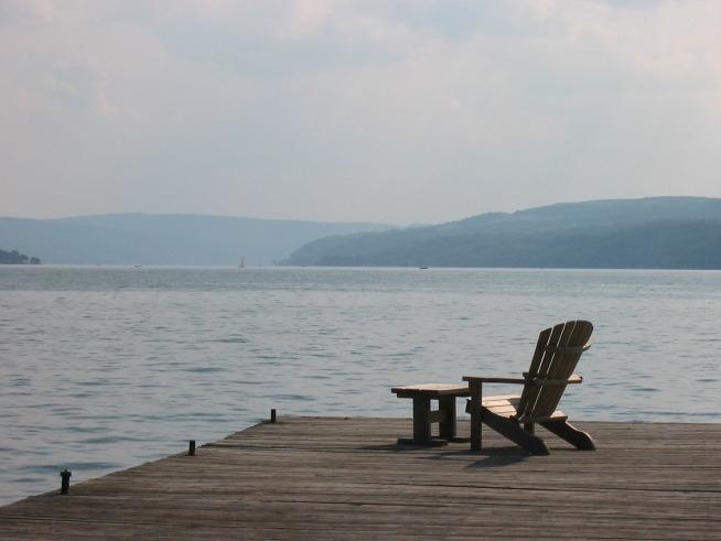 Deck chair and dock resized © Joy Sussman Joyfully Green LLC