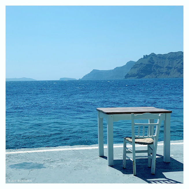 Chair and desk in Santorini